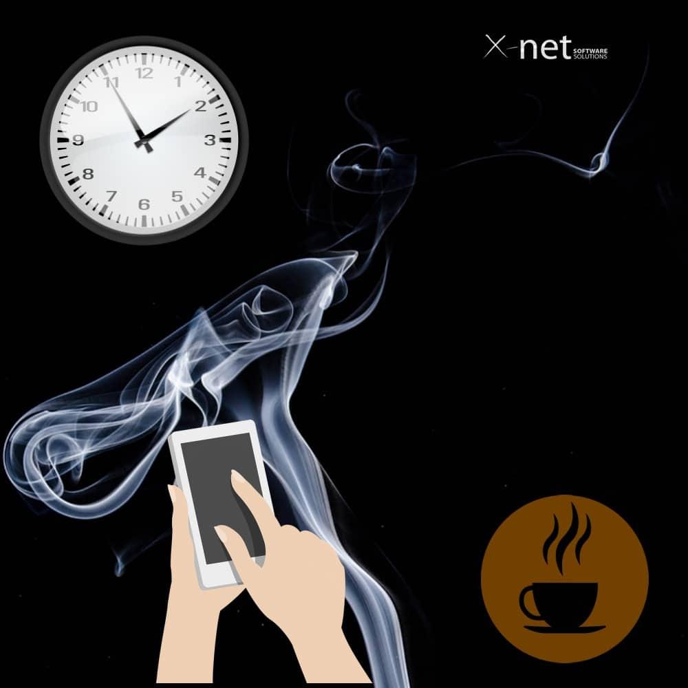 cafe y fumar jornada laboral