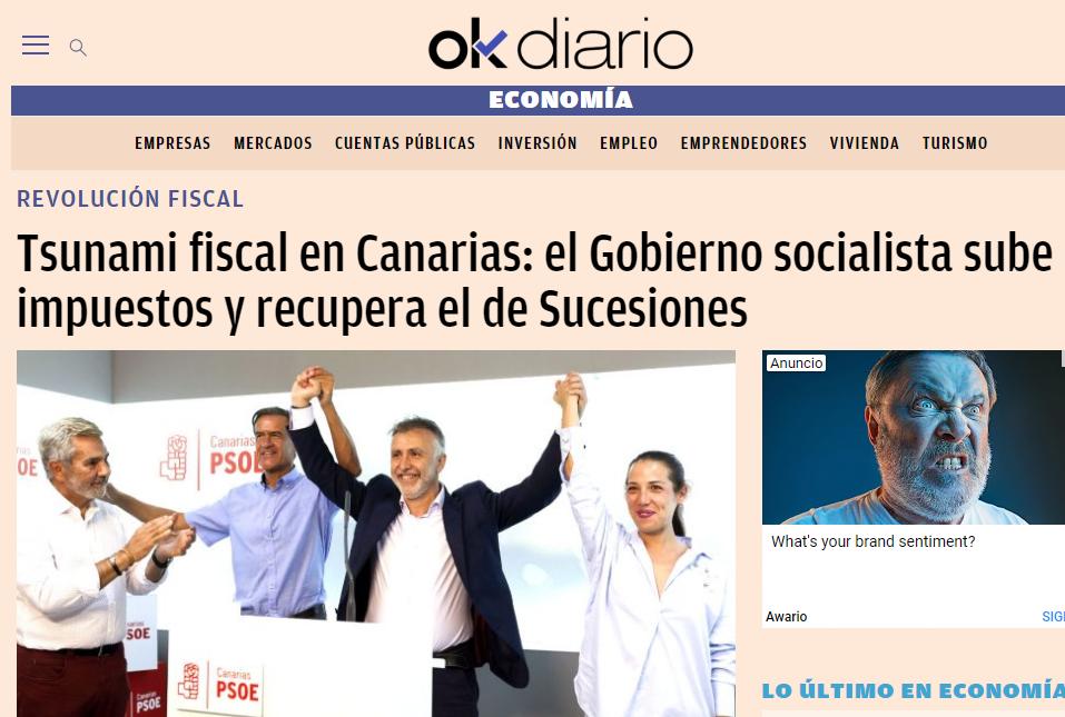 Tsunami fiscal en Canarias - Se Recupera Sucesiones y sube el IRPF y el 'IVA canario'