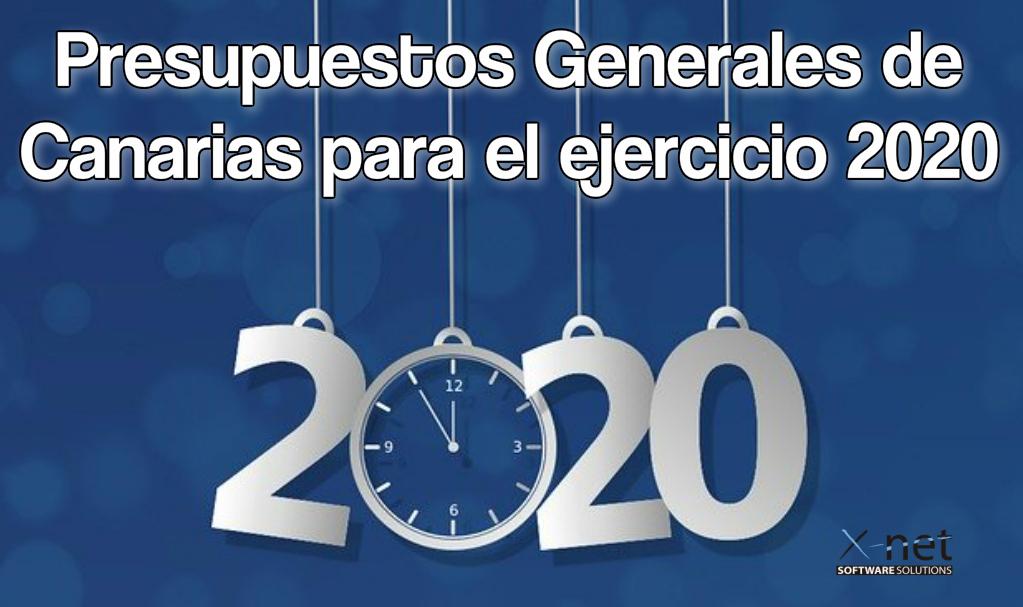 Presupuestos Generales de Canarias para el ejercicio 2020 - NOTA IMPORTANTE - Presupuestos Generales de Canarias para el ejercicio 2020