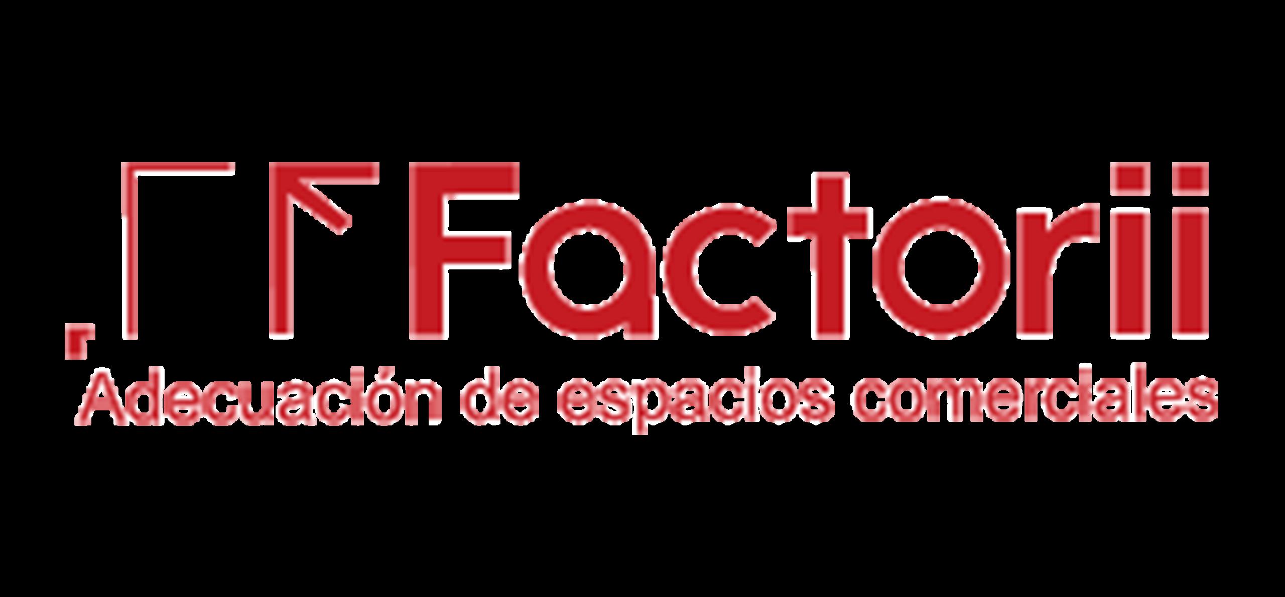 Logo Factorii - Adecuación de espacios comerciales