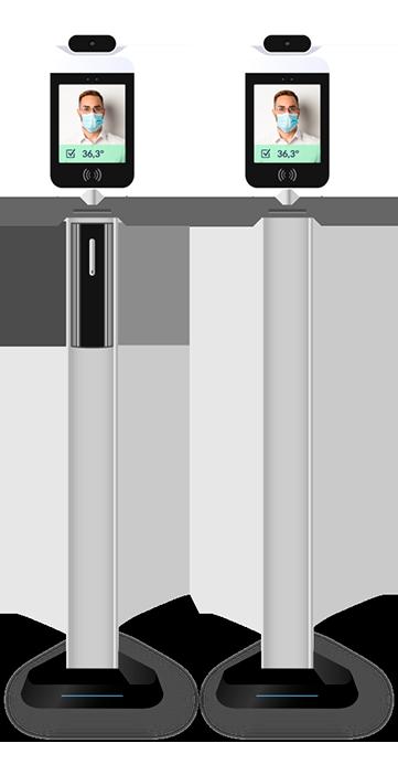 Sistema de control de acceso en peana con gel hidroalcohólico